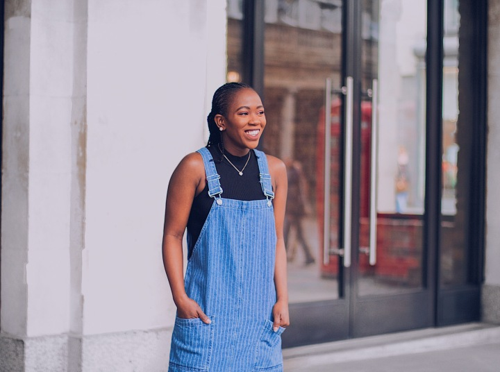 Pinafore Denim Dress X Caseapp