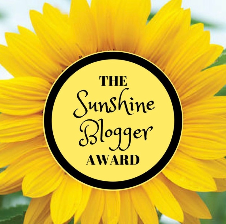 The sunshine blogger award nomination